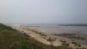 View along Druridge Bay from the retreat hall